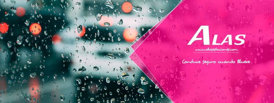 Conduce seguro cuando llueve