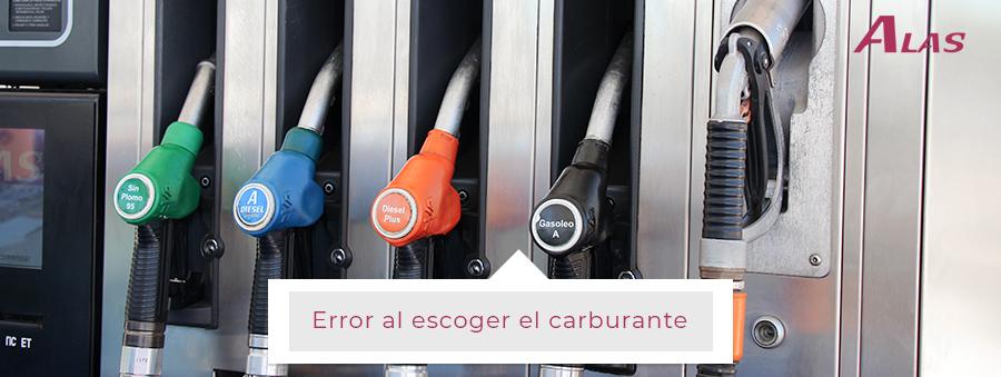 ERROR AL ESCOGER EL CARBURANTE